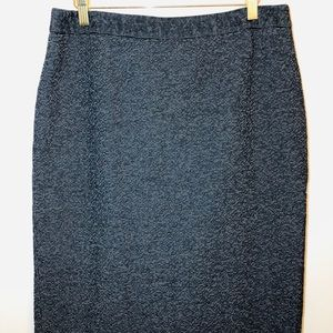 ANN TAYLOR Tweed Dress Gray Pencil Skirt Size (12)